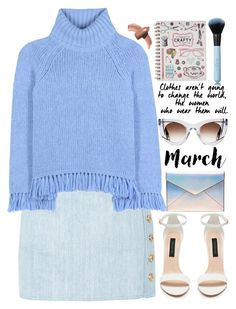 """March is my month!"" by soygabbie ❤ liked on Polyvore featuring Balmain, Tory Burch, Forever New, Rebecca Minkoff, Thierry Lasry and Elizabeth Arden"