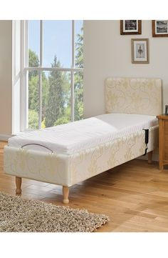 Easy to adjust thanks to a big button remote the Camberwell Electric Bed can be positioned so as to help alleviate aches and pains in the body. Electric Adjustable Beds, Your Perfect, Recliner, Remote, Button, Big, Easy, Furniture, Home Decor
