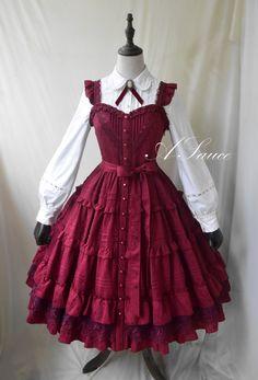 Pretty Outfits, Pretty Dresses, Beautiful Dresses, Cute Outfits, Kawaii Fashion, Lolita Fashion, Old Fashion Dresses, Fashion Outfits, Cosplay Outfits