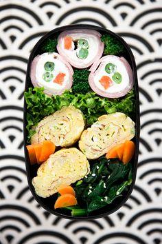 Bento Tamagoyaki  RECIPE ham cream cheese eggs