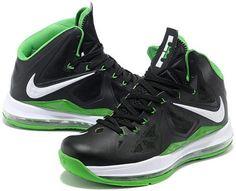 http://www.asneakers4u.com Nike Zoom Lebron 10 X  Shoes Black/Green1