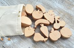 Wooden Play Food 16pcs  Wooden Vegetables  by WoodAndYarnToys