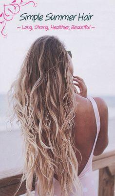 Grow healthier, stronger hair for summer.