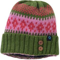 Cold Front Women's Patterned Cuff Fleece Lined Knit Beanie Hat