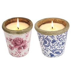 Divertimenti floral scented candles
