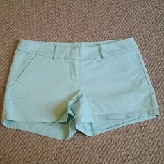 Shorts Worn a few times  Pockets on the back  The color is a light blue No stains or rips  It is unraveling on the bottom  (Shown in picture )  Smoke and pet free Home ( Will be donated Wednesday, if not sold ) Mossimo  Shorts