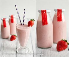 Strawberry-Banana-Milkshake // feed me up before you go-go