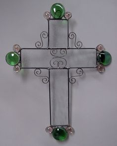 Display this cross in your home. What a great way to celebrate Easter! Body of cross is made in clear glue chip glass, I have tried to show