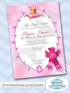 Free Printable Princess Birthday Invitations For Kids