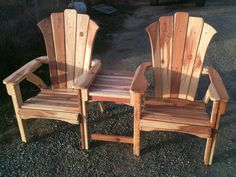 California Redwood Adirondack SideBySide By Knottheadcustomfab, $525.00