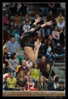 Women's Gymnastics - Nebraska at Minnesota gymnast on balance beam #KyFun m.49.7 from Gymnastics: Collegiate board