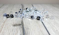Crystal, Silver Night, Black Diamond, Silver Shade, Swarovski Crystal Mix, 6mm, Crystal Bicone Mix, Jewelry Maker, Bead Supply by Beads2Supply on Etsy