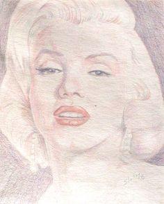 Marilyn Monroe color pencil drawing by S. Fairbanks   #Art #MarilynMonroe