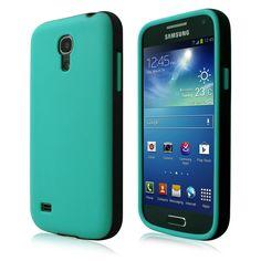 Cbus Wireless Opaque two tone TPU Flex-Gel Rubber Silicone Case / Skin / Cover for Samsung Galaxy S4 mini i9190 - Sea Green / Black:Amazon:Cell Phones & Accessories