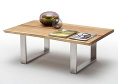 Couchtisch Holz Sandro Asteiche Massiv 8832. Buy now at https://www.moebel-wohnbar.de/couchtisch-holz-sandro-120x75-wohnzimmertisch-asteiche-massiv-8832.html