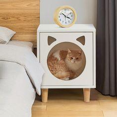Pet Furniture, Living Room Furniture, Furniture Design, Cat House Diy, Cat Activity, Diy Dog Bed, Cat Cave, Wood Dog, Cat Room