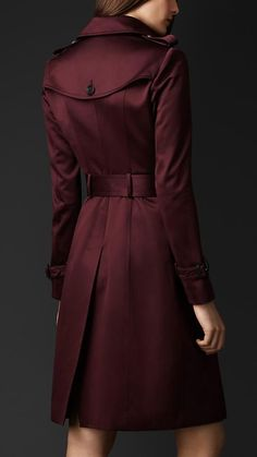 Cotton Sateen Trench Coat | Burberry