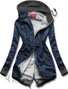 Sweatjacke dunkelblau Jeans D239A