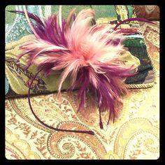 "Spotted while shopping on Poshmark: ""New Pink & Purple feather Fascinator""! #poshmark #fashion #shopping #style #Accessories"
