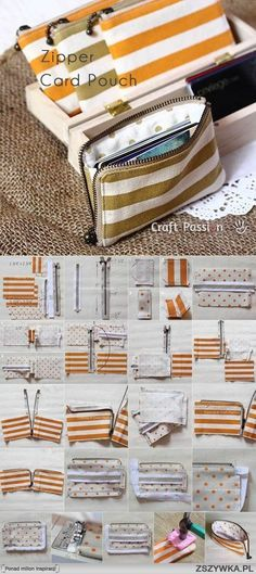 DIY Zipper Card Pouch diy craft crafts easy crafts diy ideas sewing easy diy how to craft gifts tutorials sewing crafts