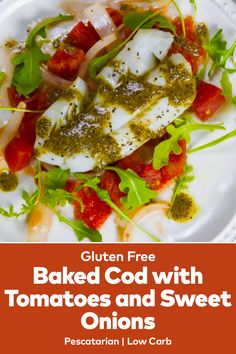 The Baked Cod with Tomatoes and Sweet Onions Recipes makes cooking cod a breeze. This baked cod recipe has sweet onions and tomatoes cooked in white wine. Baked Cod Recipes, Onion Recipes, Best Lunch Recipes, Easy Recipes, Sweet Onion Recipe, Cooking Tomatoes, Gluten Free Baking, Lunches And Dinners, Onions
