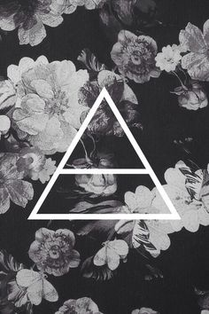 black and white floral Echelon triad I love 30 seconds to mars