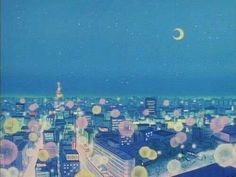'Sailor Moon Background City at Night' Poster by Freshfroot Aesthetic Desktop Wallpaper, Aesthetic Backgrounds, Retro Aesthetic, Aesthetic Anime, Vaporwave, Sailor Moon Background, Anime Gifs, Sailor Moon Aesthetic, Blue Anime