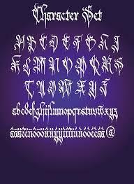 Resultado de imagen para tipografia gotica