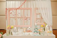Styled vintage windows available to rent or purchase as wedding decoration.