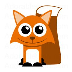 Fox Clipart from the website Adorabletoon.com