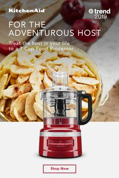 Make memories with a gift that makes more possible. The KitchenAid® 7 Cup Food Processor is ready whenever creativity strikes. Easily chops, mixes and purees so that the host in your life can craft any recipe on the menu. Air Fry Recipes, Skewer Recipes, Apple Recipes, Pork Recipes, Low Carb Recipes, Crockpot Recipes, Chicken Recipes, Vitamix Recipes, Eggnog Recipe