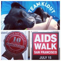 "We finished @aidswalksf. Basil says ""Thanks for your support!"" #KloutForGood"