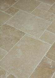 Travertine Tile Denizli Beige Antique Pattern Brushed, Chiseled, and Partially Filled. $2.79 sq/ft. Builddirect.com