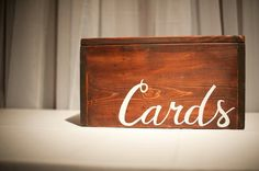 Wedding card box - One-of-a-kind, wooden, rustic, modern, vintage ...