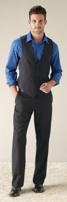 Mens suit separates with vest; I think my husband could rock a vest
