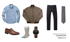 525645d4f24 Five Ways to Wear One  The Chambray Shirt · Effortless Gent