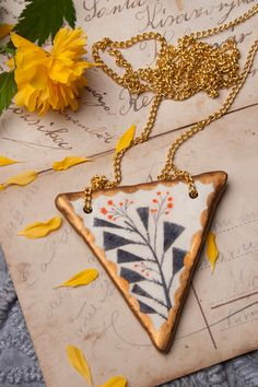 this is lovely ---   Plants Necklace Pendant by DoubleFoxStudio on Etsy, $42.00