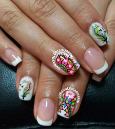 trendy ideas for nails verano acrilico Elegant Nail Designs, Nail Designs Spring, Nail Art Designs, Nail Art Videos, Nail Art Hacks, Fabulous Nails, Cool Nail Art, Spring Nails, Trendy Nails