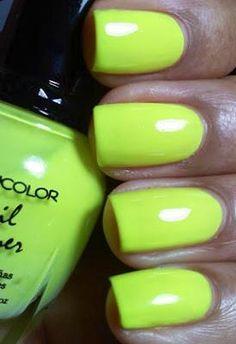 New - Kleancolor Nail Polish #85 Funky Yellow - Bright Neon Yellow - Free Gift- Eyeliner- Free Ship