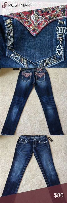 NWT Miss Me jeans! NWT Miss Me jeans. Signature skinny - 30 inch inseam. Smoke free home. Next day shipping - 6 days a week. No trades or holds. Price is firm. Miss Me Jeans Skinny