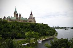 The Parliament of Canada is the federal legislative branch of Canada, seated at Parliament Hill in the national capital, Ottawa. Formally, the body consists of the Canadian monarch—represented by her governor general—the Senate, and the House of Commons, each element having its own officers and organization. The governor general summons and appoints each of the 105 members of the upper house on the advice of the Prime Minister of Canada, while the 308 members of the lower house.