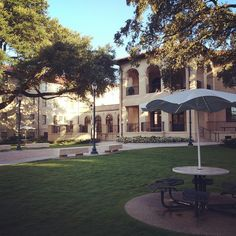 LSU's Laville Residence Hall Courtyard is a great place to study!