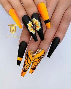 Glam Nails, Dope Nails, Fancy Nails, Bling Nails, Nagellack Design, Cute Acrylic Nail Designs, Fall Acrylic Nails, Acrylic Set, Pretty Nail Art