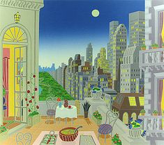 Thomas McKnight, Midtown, Serigraph on Paper, Limited Edition