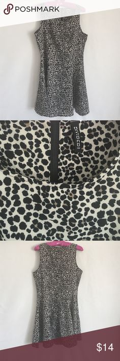 Animal print Divided Dress Size large (my tag is missing). Super flowy swing dress Divided Dresses Mini