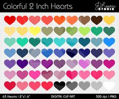 Hey, I found this really awesome Etsy listing at https://www.etsy.com/uk/listing/181044096/digital-clipart-colorful-2-inch-hearts