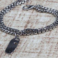 Pulseira de pena! #chains #pulseira #pulseiras @acessorios #feather #pena prata #prateado #amomuito #verao #moda