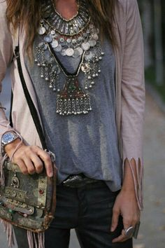 Tribal jewelry boho