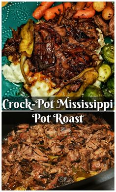 Looking for an easy weeknight recipe? This Crock-Pot Mississippi Pot Roast has only 5 ingredients and tastes amazing! It is tender, falls apart easily, and everyone always wants seconds.