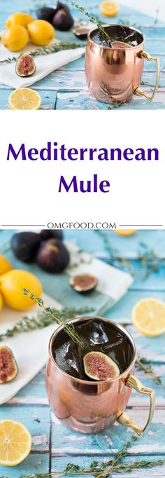 Mediterranean Mule: A tasty cocktail made with fig vodka, limoncello, and ginger beer. | omgfood.com